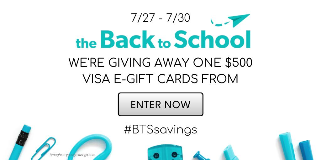 Win a $500 Visa eGift Card