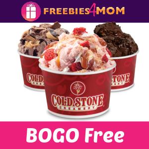 🍨BOGO Free at Cold Stone Creamery