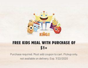 🍔Free Kids Meal at Burger King (In-App)