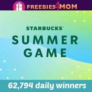☕️Sweeps Starbucks Summer Game (62,794 daily winners)