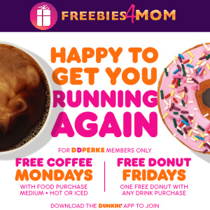 🍩Free Coffee Mondays and Free Donut Fridays