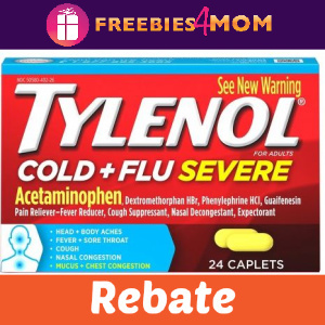 💊Rebate Tylenol Cold & Sinus or Children's
