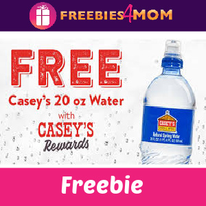 💧Free Bottle of Water at Casey's Today