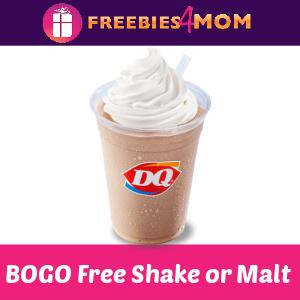 🍦BOGO Free Shake or Malt at Dairy Queen 9/22