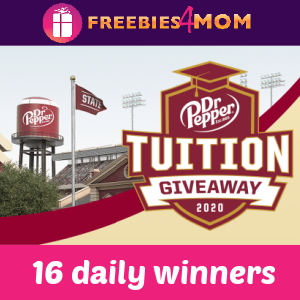 🎓Sweeps Dr. Pepper Tuition Giveaway (16 daily winners)