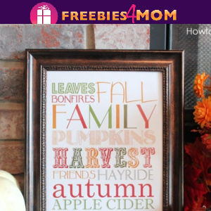 🍎Free Fall Printable:  Fall Subway Art