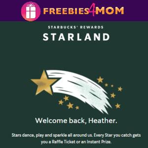 🌟Sweeps Starbucks Starland (80,648 daily winners)