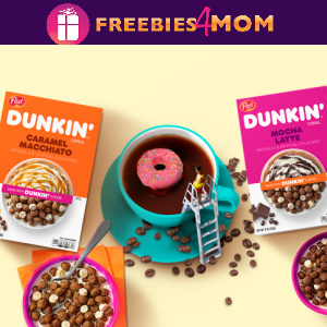 🍩Sweeps Dunkin' Cereal Giveaway