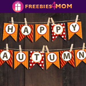🍂Free Fall Printable: Happy Autumn Bunting Banner