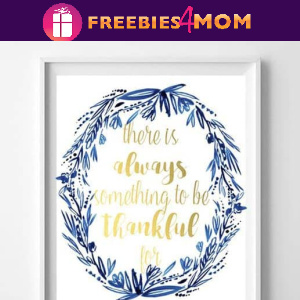 🍂Free Fall Printable: Thankful Sign & Banner