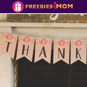 🥧Free Fall Printable: Thankful Banner