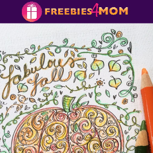 🎨Free Fall Printable: Fabulous Fall Adult Coloring Page