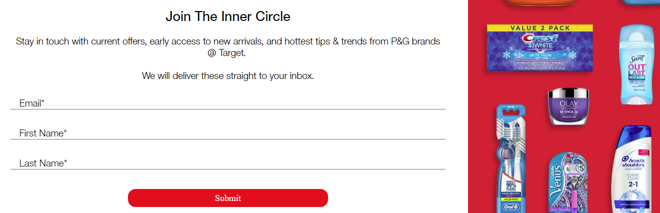 Sign-up for P&G's Inner Circle