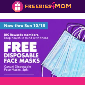 😷Free Disposable Masks from Big Lots