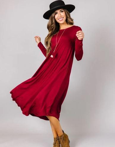 👗$12.99 Long Sleeve Swing Dress ($24.95 Value)