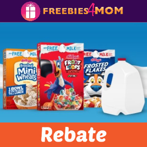 🥣Rebate Buy 3 Kellogg's Cereal Get Milk Free