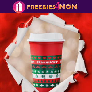 🎄Starbucks Free Reusable Holiday Cups Nov. 6