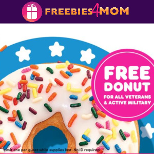 🍩Free Donut at Dunkin' For Veterans & Active Military