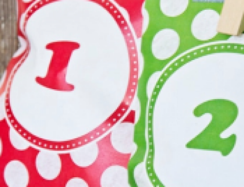 🎅Free Christmas Printable: Advent Calendar Treat Bags