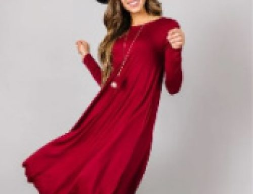 👗$12.99 Long Sleeve Swing Dress ($24.95 Value)