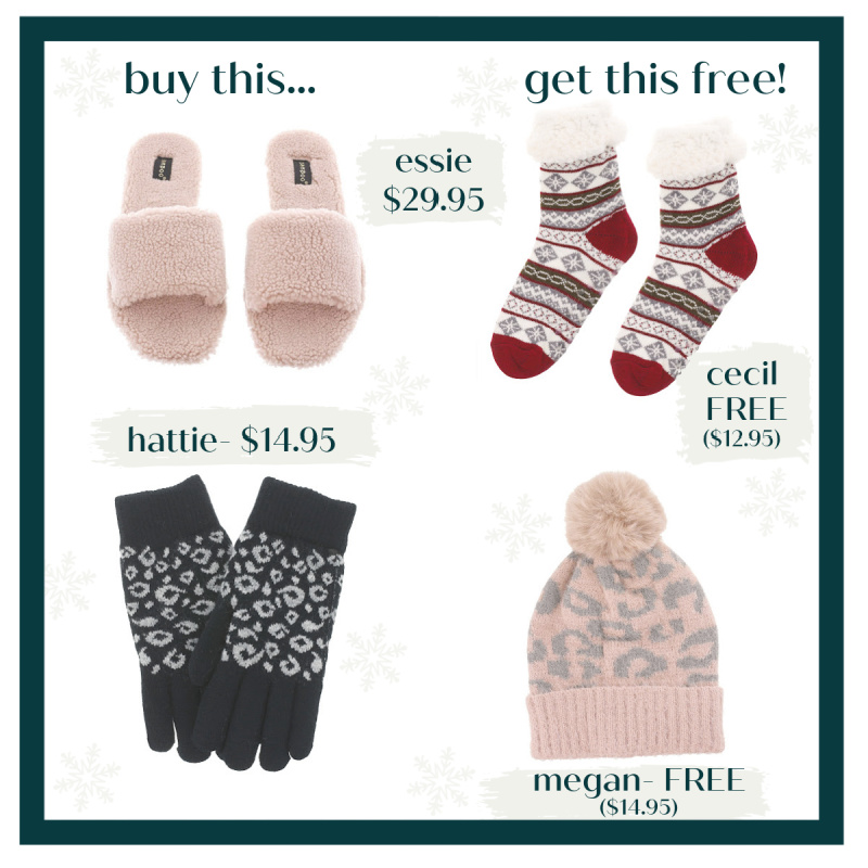 ❄️BOGO Free Accessories (Slippers, Socks, Hats & More)