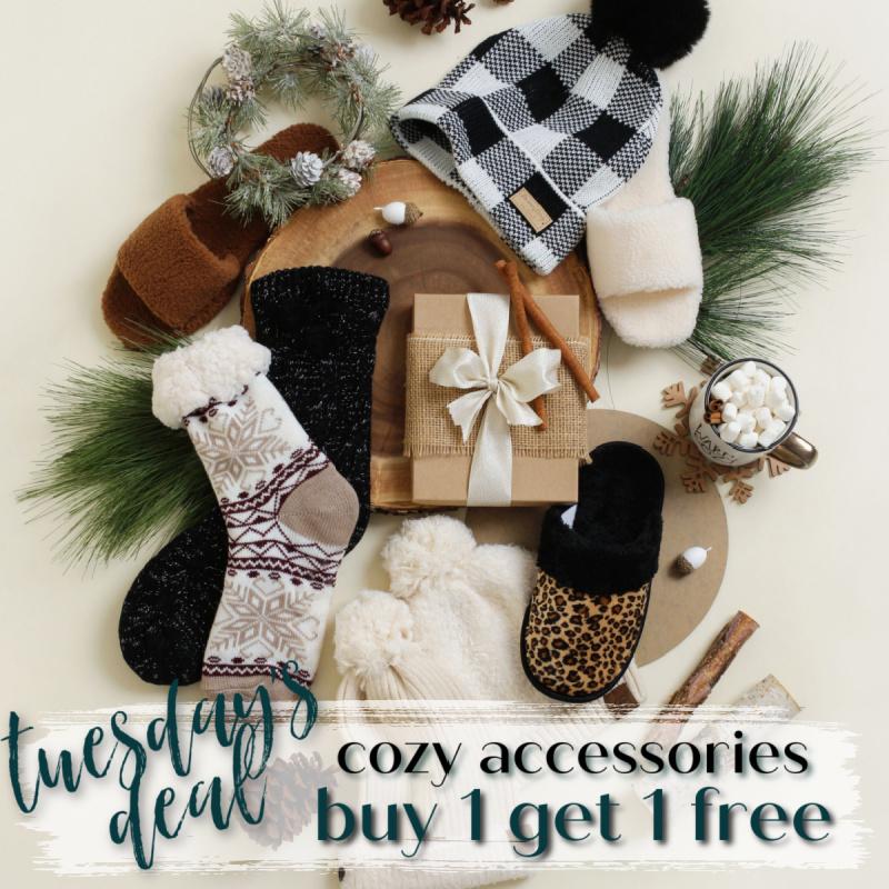 ❄️BOGO Free Slippers, Socks & Hats