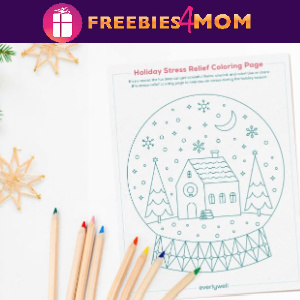 🎅Free Printable Holiday Adult Coloring Page + More