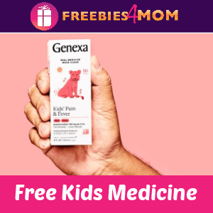 💊Free Bottle of Genexa Kids' Pain & Fever Medicine