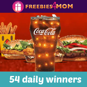 🥤Sweeps Burger King A Very Merry Fizzmas (54 daily winners)