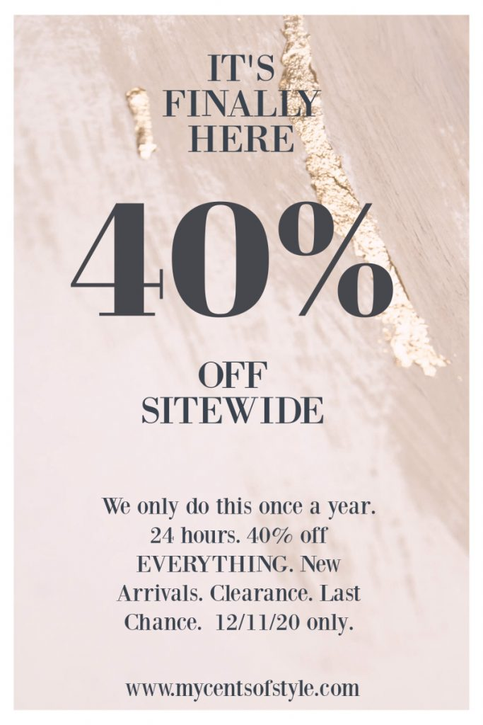 👗40% Off Sitewide at Cents of Style (1 Day Only, Ends Tonight)