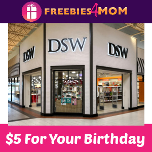 🎁$5 off $5 Birthday Coupon at DSW