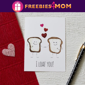 "🍞Free Printable Valentine ""I Loaf You!"" Cards"