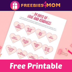 ❤️Free Printable 14 Days of Love & Kindness