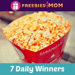 🍿Sweeps Cinemark Year of Popcorn (7 Daily Winners)