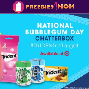 🍬Free Trident National Bubblegum Day at Target Chatterbox