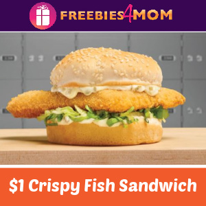 🐟$1 Arby's Crispy Fish Sandwich (thru 3/12)