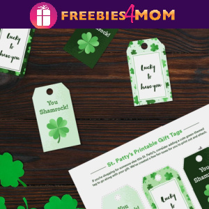 🍀Free Printable St. Patrick's Day Gift Tags