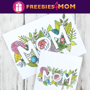 💐Free Printable Watercolor Mother's Day Card