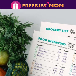 🍎Free Printable Grocery List, Inventory & Meal Planning
