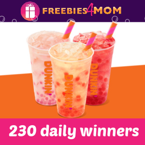 🍩 Dunkin' Popping Bubbles Sweeps (230 daily winners)