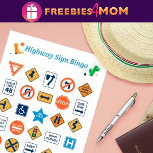 🚙Free Printable Road Trip Games: Highway Sign Bingo and more
