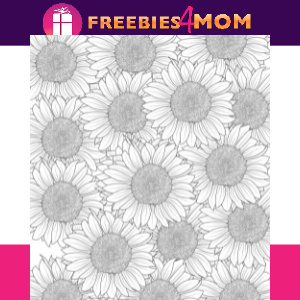 🌻Free Adult Coloring Sunflowers