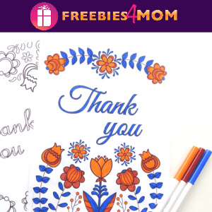 🌷Free Printable Adult Coloring: Thank You