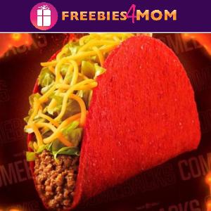🌮Free Flamin' Hot Doritos Locos Taco at Taco Bell 7/22