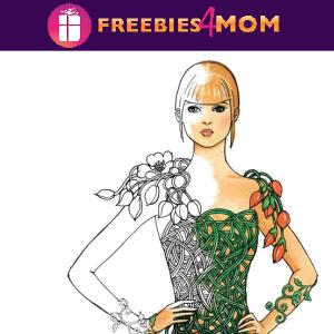 🌺Free Printable Adult Coloring: Flower Fashion Fantasies