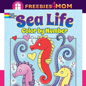 🐳Free Printable Sea Life Color by Number (ages 4-8)