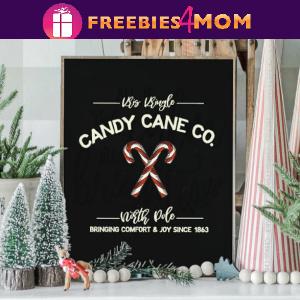 🍬Free Christmas Printable: Candy Cane Co. Wall Art