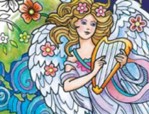 👼Free Printable Adult Coloring: Beautiful Angels