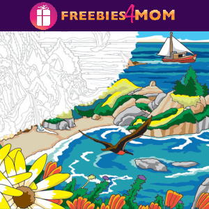 🌊Free Printable Adult Coloring: Seashore Scenes (color by number)