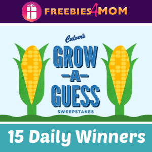 🌽Sweeps Culver's Grow a Guess (ends 8/1)